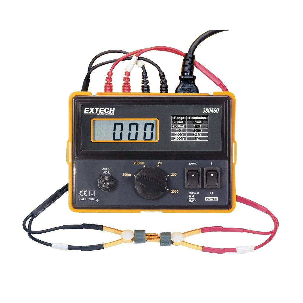 4-Wire 110 VAC Digital Milliohm Meter