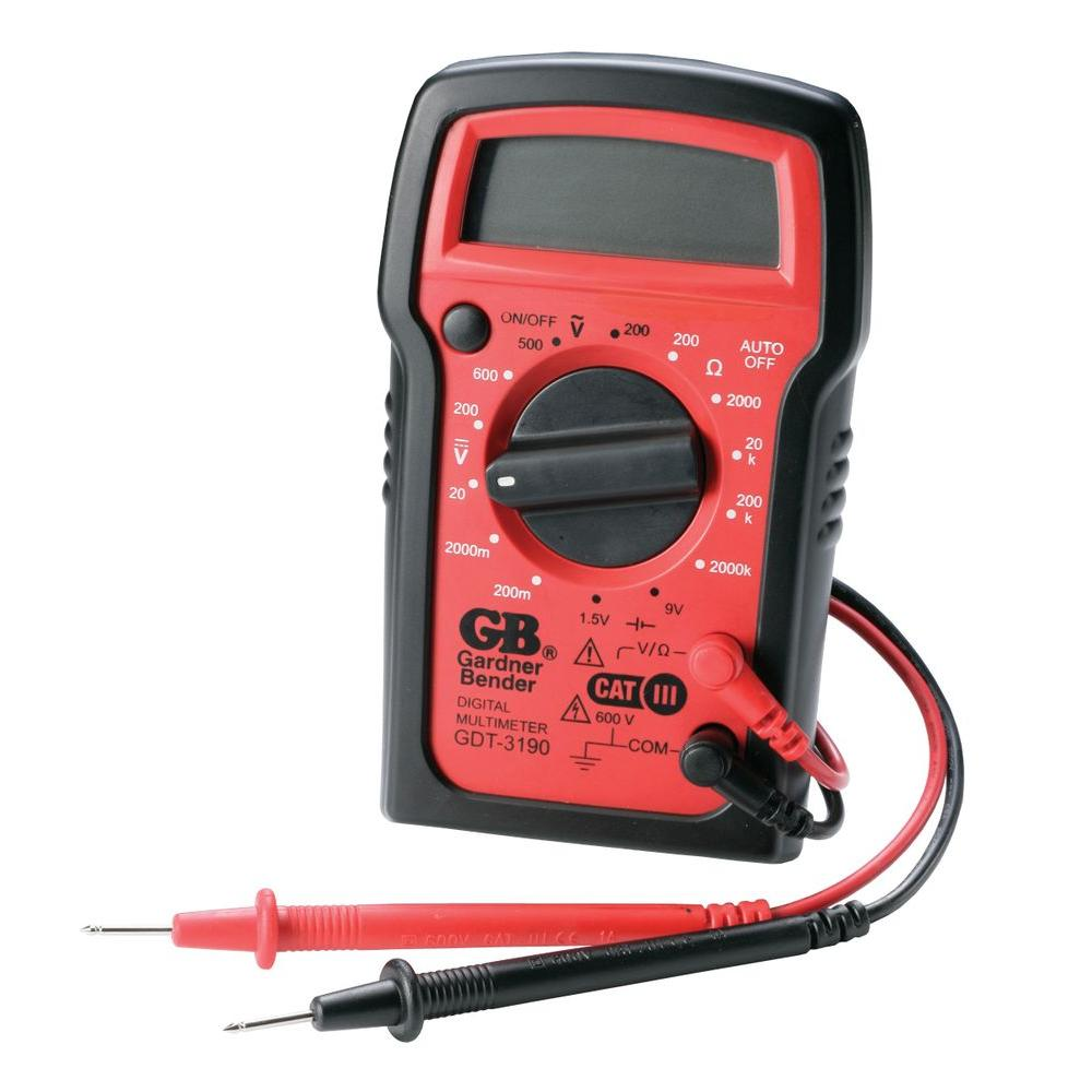 4-Func 14-Range Manual Digital Multimeter
