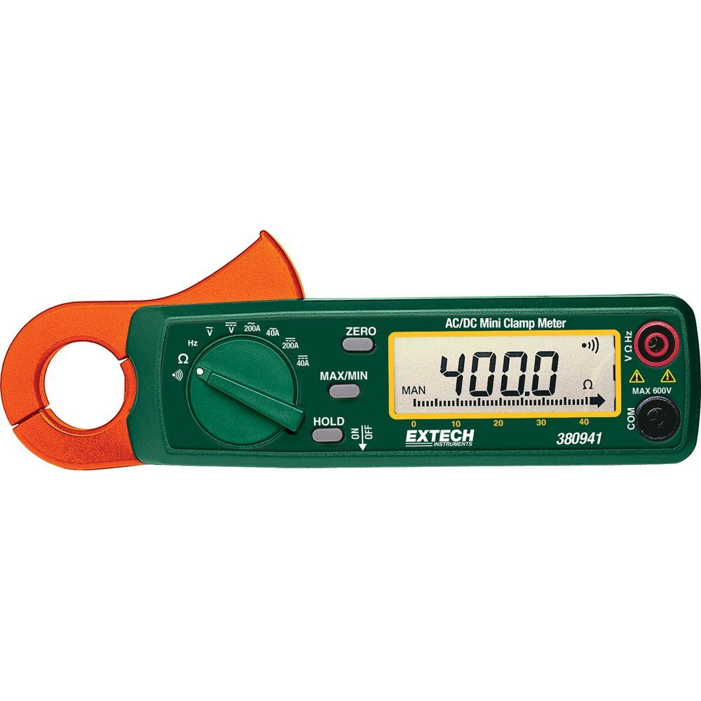 200 Amp AC/DC High Resolution Mini Clamp Meter with NIST