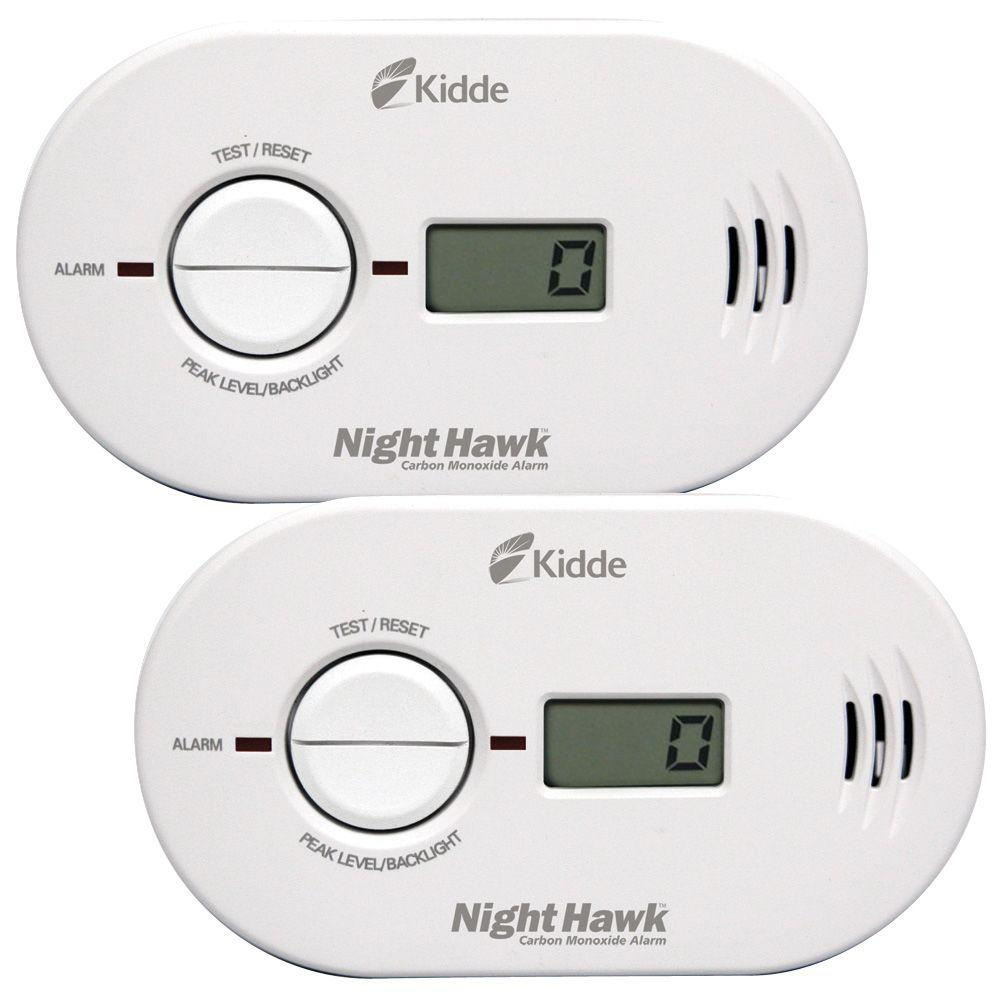 Nighthawk Battery Operated Carbon Monoxide Detector with Digital Display (2-pack)
