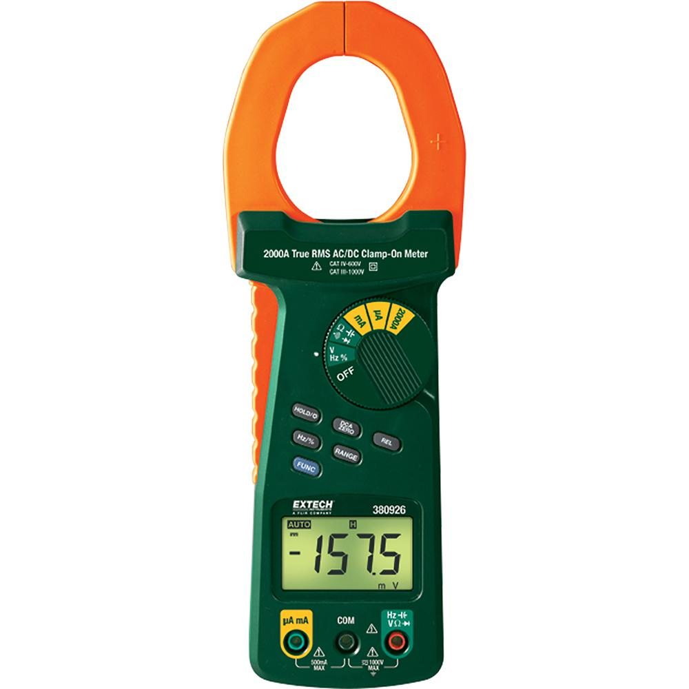 2,000 Amp True RMS AC/DC Clamp Meter with NIST